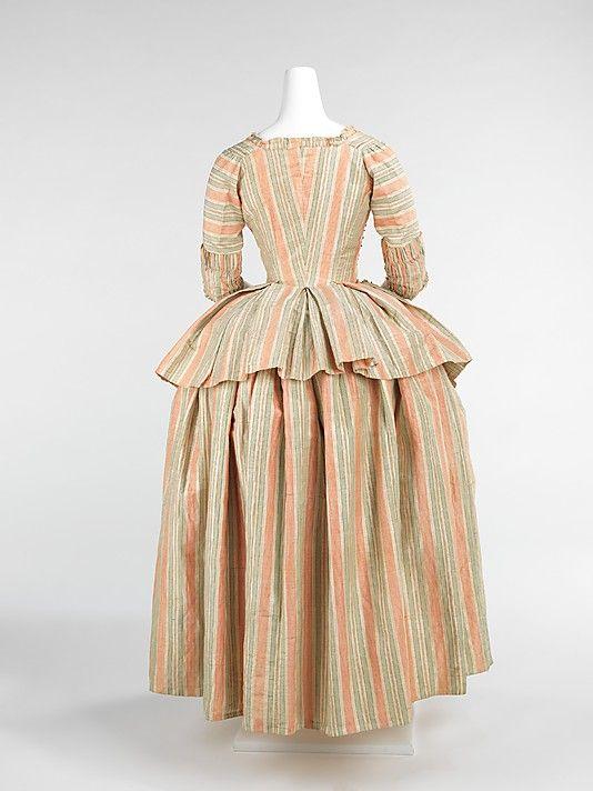Caraco and petticoat, c. 1775, French. MMA, Accession #2009.300.917a,b