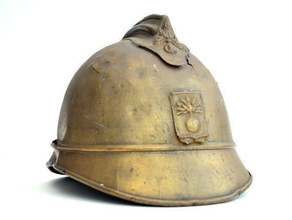 Antique French M15 Adrian Helmet Combat Helmet by FillyGumbo