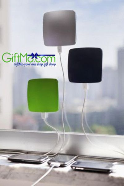 Amazing Portable Window Solar Charger For Tablets and Smartphones The surface plate of the charger creates a suction to cling to the glass window and gets solar powered. It is almost 6 inches square a