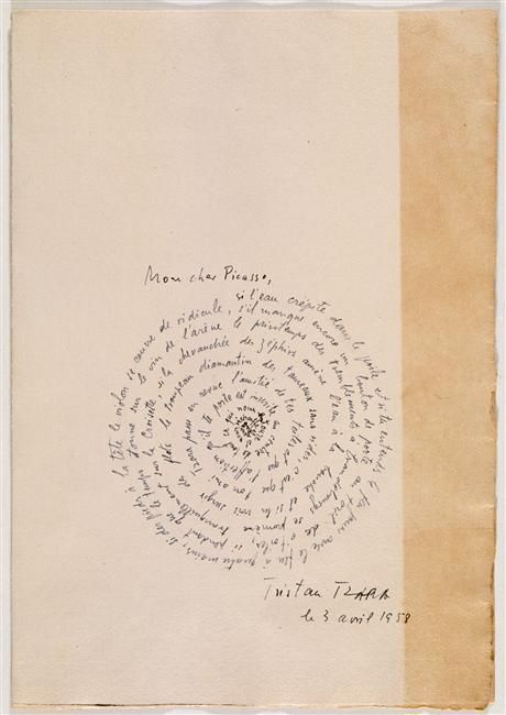 "Tristan Tzara : ""La rose et le chien"" 1958  Discover the coolest shows in New York at www.artexperience..."