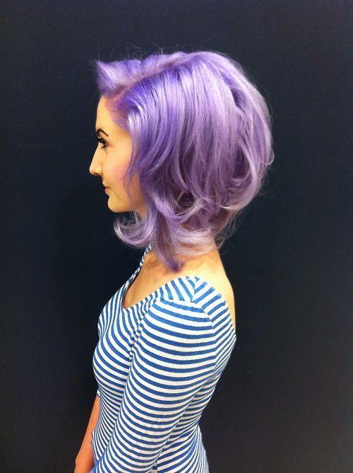Lavender Hair Color fashion hair purple color hair color lavender dye hairstyle short hair