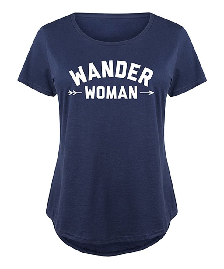 This LC trendz Plus | Navy 'Wander Woman' Scoop Neck Tee - Plus by LC trendz Plus is perfect! #zulilyfinds