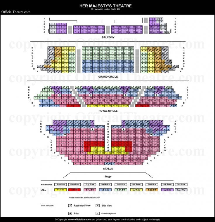 Brilliant In Addition To Beautiful Her Majesty S Theatre Seating Plan Theater Seating How To Plan