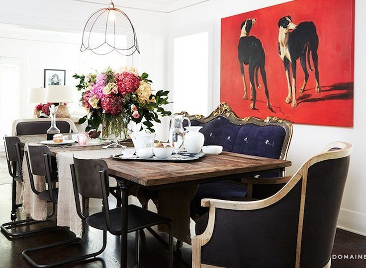 Dining Tables With Settees | Dining Settee, Eclectic, Dining Room, Domaine  Home