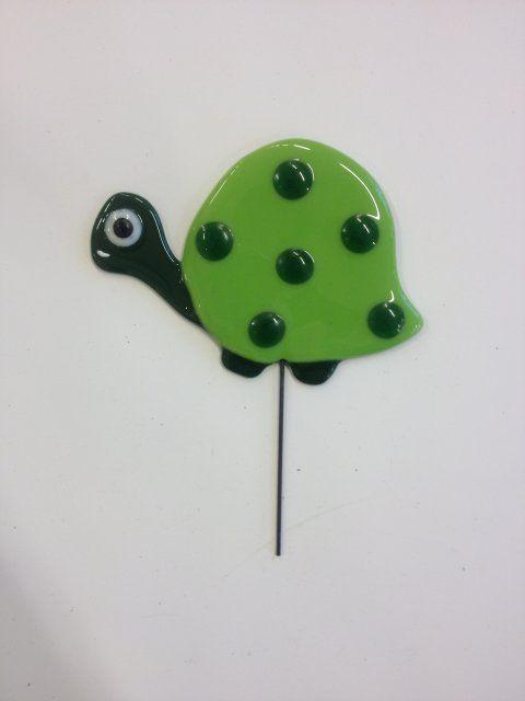 BB-Glaskunst glas arbejde skildpadde - fused glass turtle