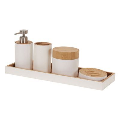 Household Essentials Elements 6 Piece Bamboo Bathroom Set. 1000  ideas about Bamboo Bathroom Accessories on Pinterest