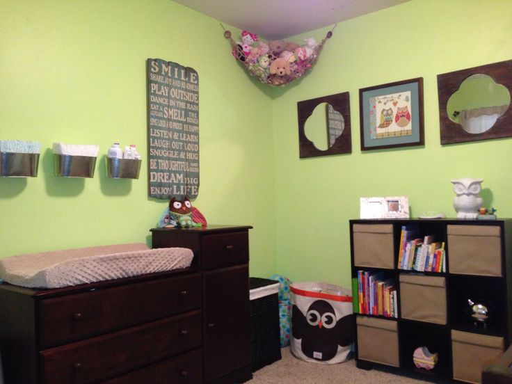 Gender neutral nursery paint color  honeydew  with owl theme  It was a girl14 best Baby Nursery images on Pinterest   Nursery ideas  Baby  . Paint Colors For Gender Neutral Nursery. Home Design Ideas