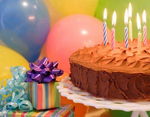 Resultado de imagen para globos y pastel de cumpleaños