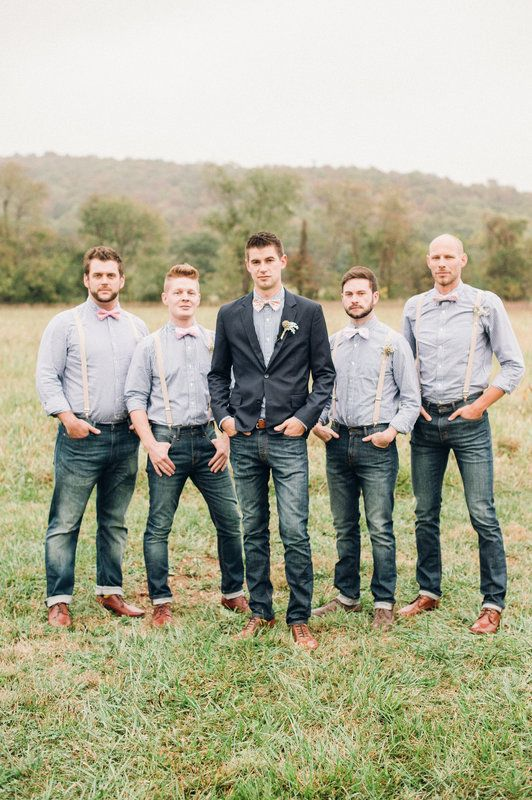 Who says you can't wear jeans?  Ashley & Jeremy Wedding Photo By Justin & Mary