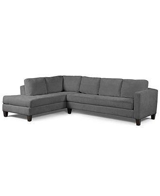 Milo fabric microfiber sectional sofa 2 piece sofa for 6 piece microfiber sectional sofa