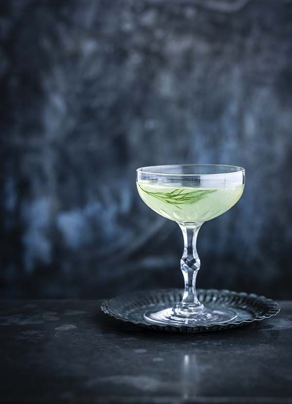 East India Gimlet - Dill , Lime Wedge, Dry Gin, Rose's Lime Cordial, Celery Bitters.