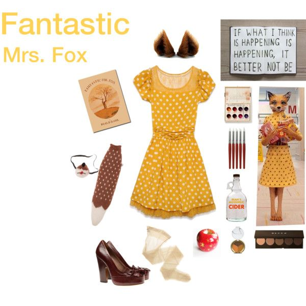 """""""you really are fantastic"""" fox costume by justlittletalks on Polyvore featuring Wolford, Tabitha Simmons, Becca and Kismet"""