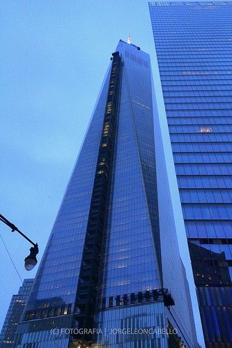 WTC in blue - New York (USA)