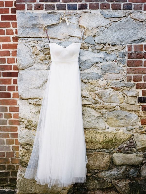 Bhldn Wedding Dress From Styled Shoot At William Paca House Annapolis Maryland Featured