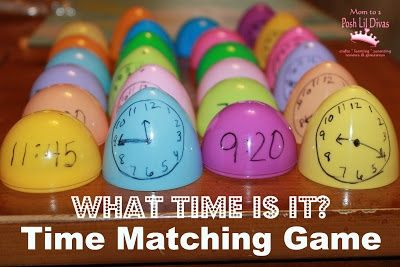 A nice change of pace for a matching activity. Can be used for a variety of lessons (not just telling time).
