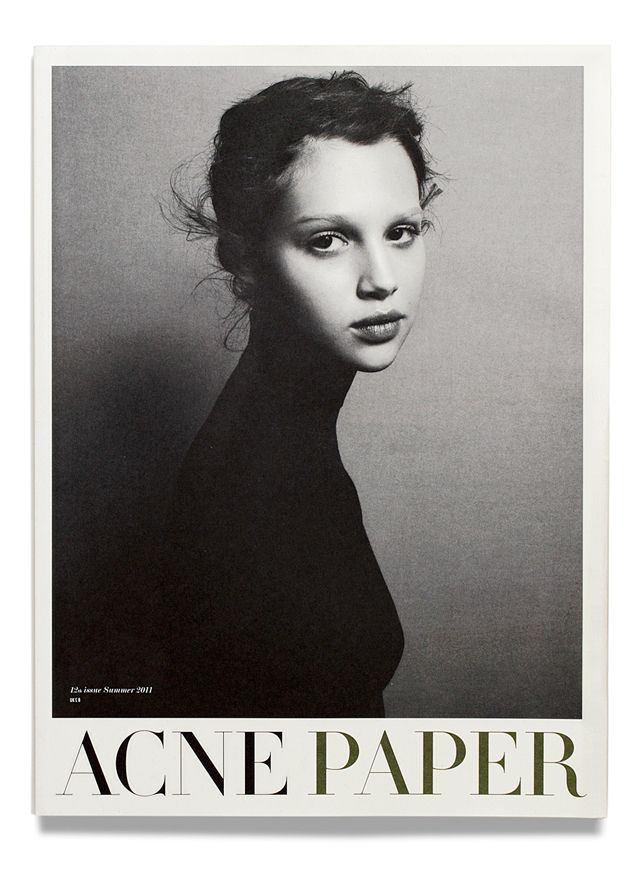 Acne Paper. 12th issue Summer 11 — YOUTH Cover by Daniel Jackson.