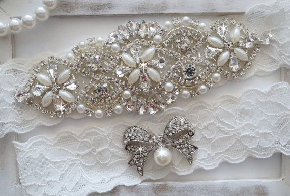 Wedding Garter Set Bridal Garter Set Vintage by OneFancyDay