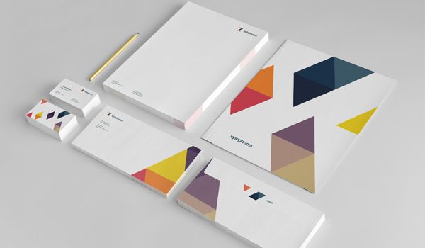 Xylophonia, beautiful branding en stationary design, found on Behance.