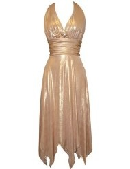Stretch halter dress fairy hem prom formal holiday party gown