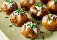 Baked Potato and Sour Cream Canapes