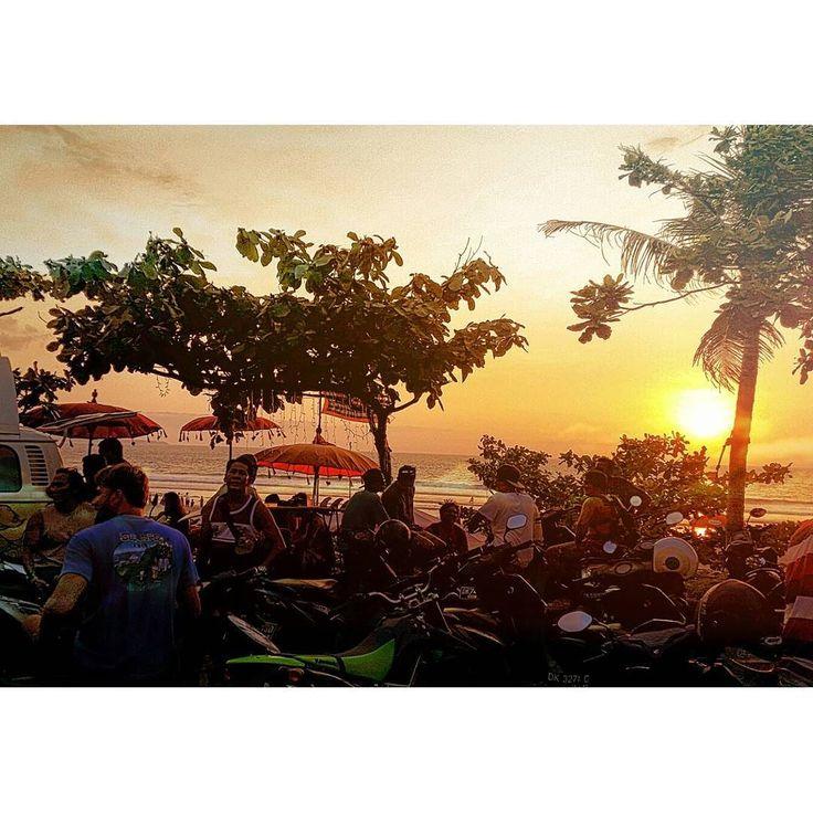 Motorbike life in Bali as the sun sets over Legian |  | #bali #indonesia #thebaliwhisperer #travel #wanderlust #explore #tourism #travelpics #beach #islandlife #photography #surf #sunsets #summer #sunsetlovers #motorbike #motorcycle #bikelife #ride #roadtrip #coastline #tropics #sun #nature #dusk #explorebali #beaches #ocean #instatravel #adventures by nina.ivanovic_travels
