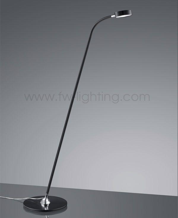 floor lighting led. baulmann leuchten led floor lamp black mesh and base directional head with touch dim lighting led r
