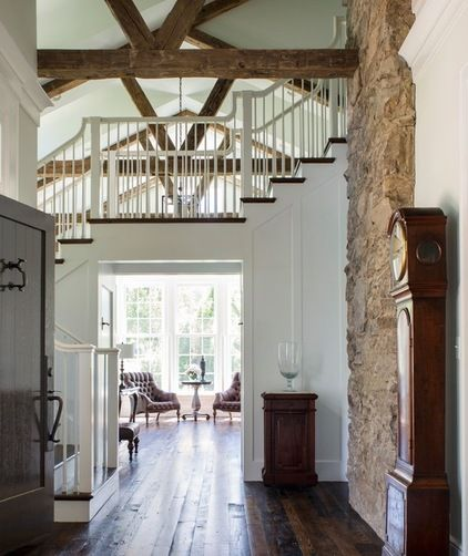 farmhouse entry by Donald Lococo Architects in McLean, Virgina... Can I live here please????