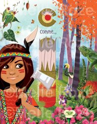 #abécédaire #enfant #Icomme #indienne #iguane #melleroze #Cynthiabernabe #illustratrice #Sète #plasticienne #graphiste