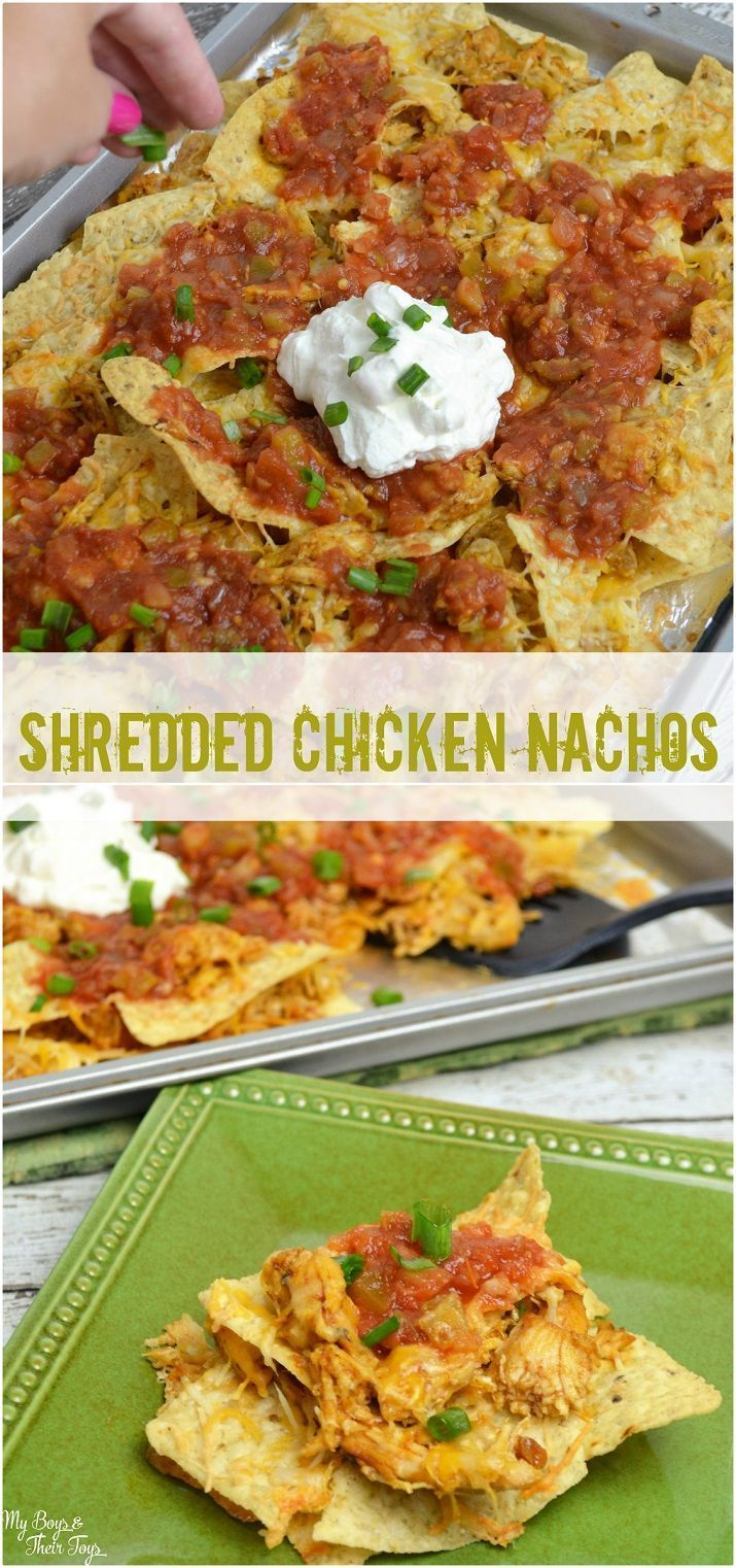 This shredded chicken nachos recipe is amazing! A family favorite. Grab the recipe now. #CampbellSavings ad