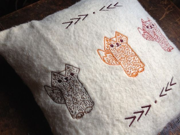 Three Foxes Children Throw Pillow