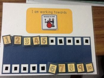 *This edition is a three task board with fun chevron numbers (1-10)  Some kids need a constant visual reminder of what they are working towards. This is a great resource for any ages. I use them with fourth graders who have Autism and other differing abilities.