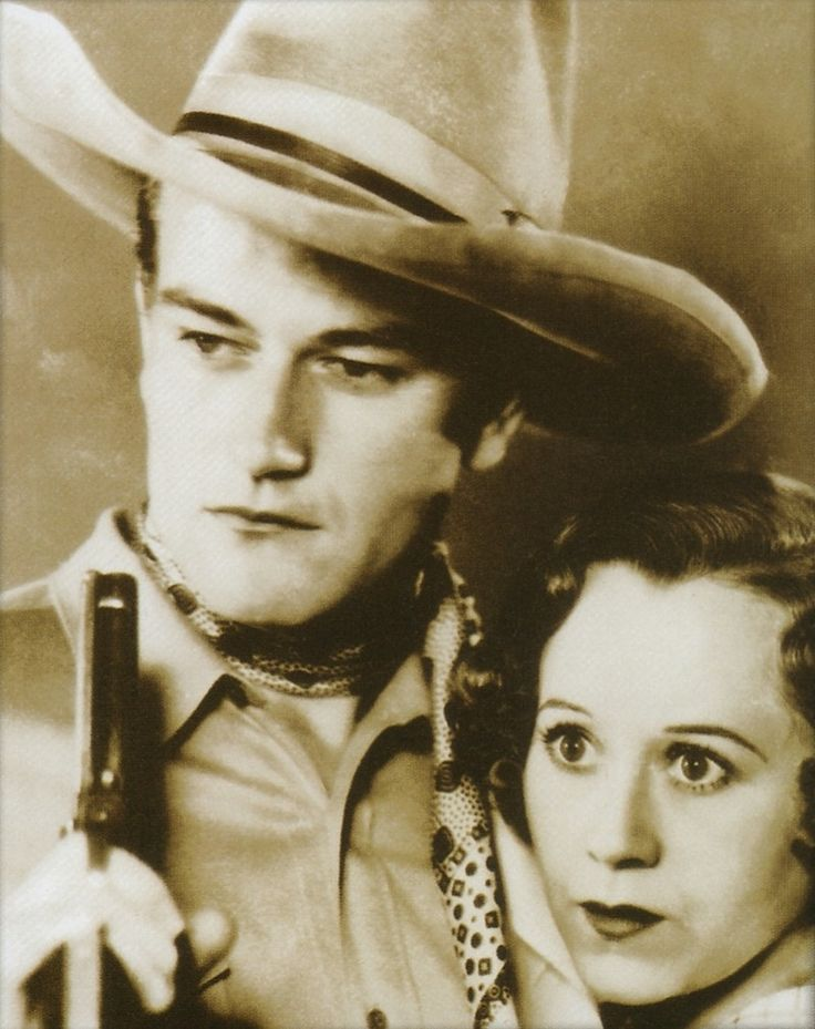 """Randy Rides Alone - 1934 - Harry L. Fraser - John Wayne. One of the """"Poverty Row"""" westerns. In one of those productions the budget only had enough for one horse so they had to film the scenes with only one horse at a time in the shot (so they could share)."""