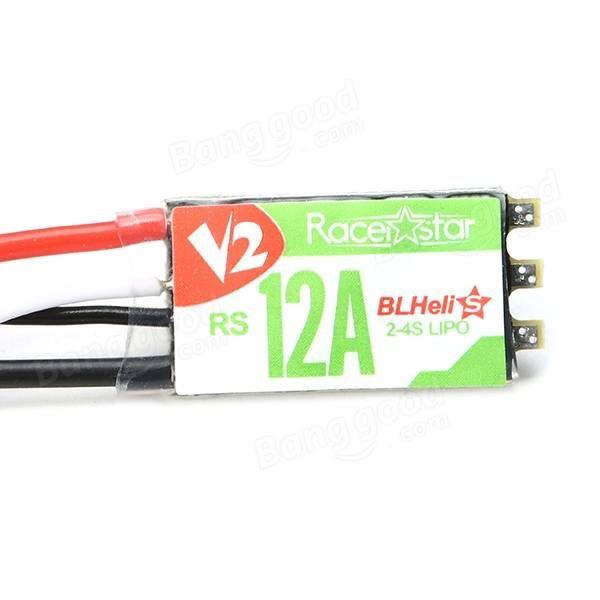 Racerstar RS12A V2 12A BB2 Blheli_S 2-4S Opto ESC Support Oneshot42 Multishot for FPV Racer