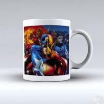Avanger Captain America Iron Man White Mug