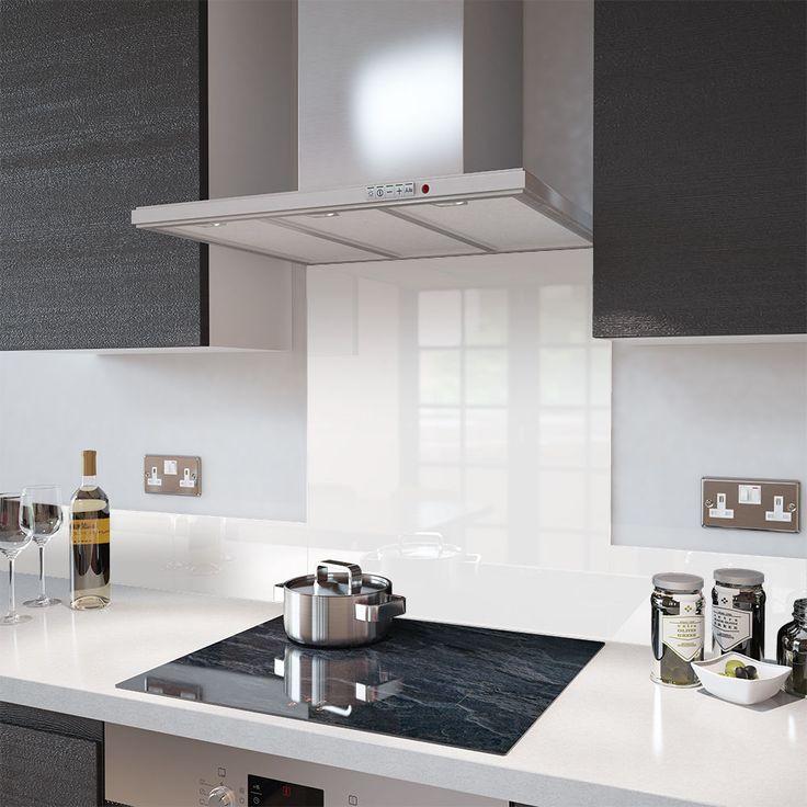 Premier Range High Gloss White Glass Splashback 60cm x 75cm in Home, Furniture & DIY, Appliances, Cookers, Ovens & Hobs | eBay