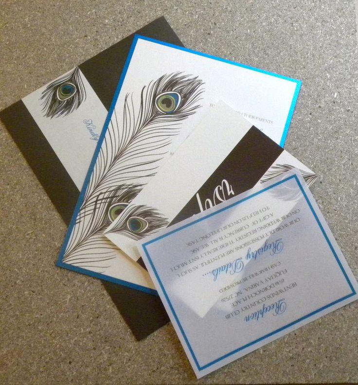 Peacock Wedding Invitation Classic Wedding by SuitePaper
