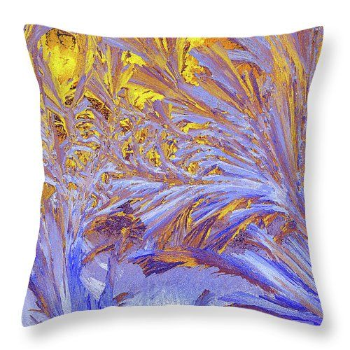 Victor Kovchin Throw Pillow featuring the photograph Frost Patterns by Victor Kovchin