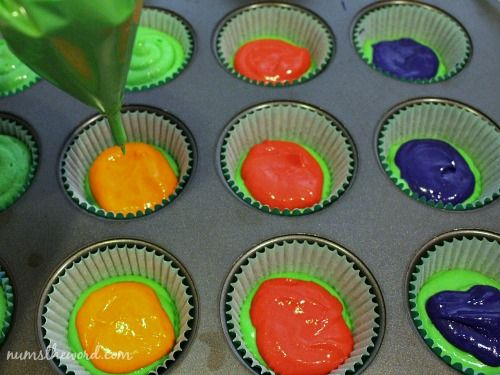 Surprise Ninja Turtle Cupcakes - NumsTheWord