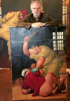 Fernando Botero displays more of his work from the Abu Ghraib prison.