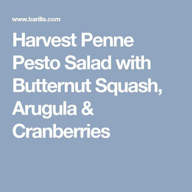 Harvest Penne Pesto Salad with Butternut Squash, Arugula & Cranberries