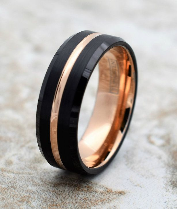 The Most Unusual And Unique Wedding Rings Belle The Magazine Rose Gold Tungsten Ring Mens Wedding Bands Tungsten Tungsten Wedding Bands