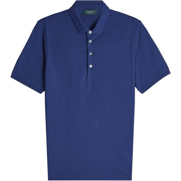 Zanone New Cotton Polo Shirt (12.410 RUB) ❤ liked on Polyvore featuring men's fashion, men's clothing, men's shirts, men's polos, blue, mens slim fit polo shirts, mens slim fit shirts, mens polo shirts, men's cotton polo shirts and mens navy blue polo shirts