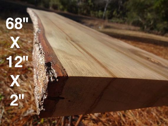Live Edge Sweet Gum Solid Hardwood Wood Slab Diy Floating