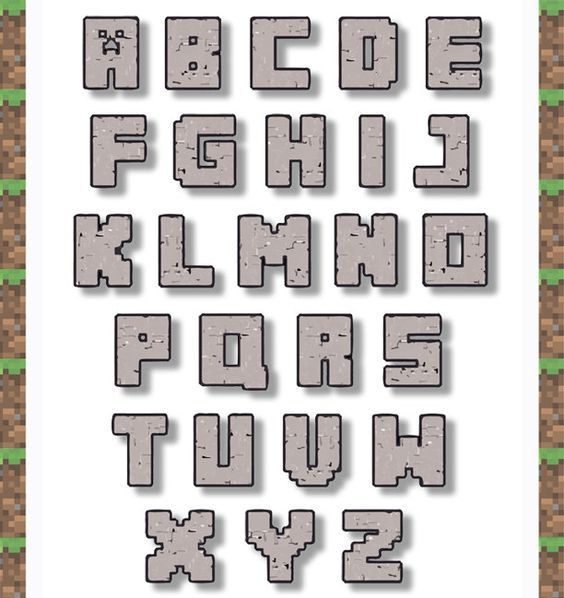 printable minecraft alphabet - Google Search