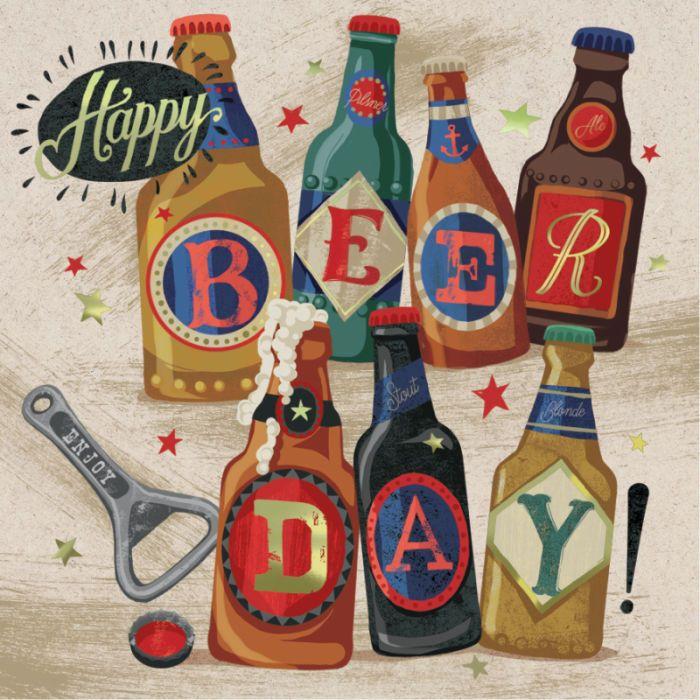 Andrew Smith - Happy Birthday Beer Male Foil Andrew Smith