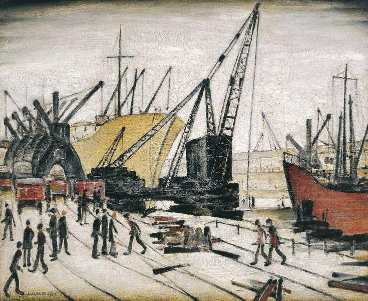 4. Cranes and Ships, Glasgow Docks, 1947. Riverside Museum, Glasgow