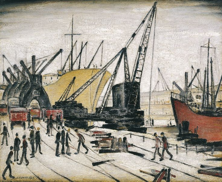 4. Cranes and Ships, Glasgow Docks, 1947. Riverside Museum, Glasgow
