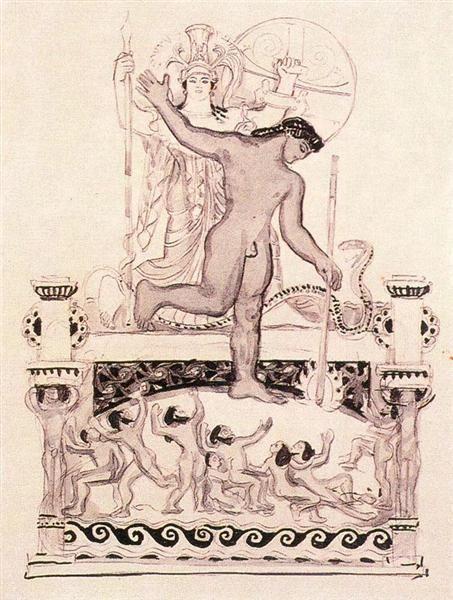 Prometeo encadenado, 1905. Expresionismo - Frantisek Kupka