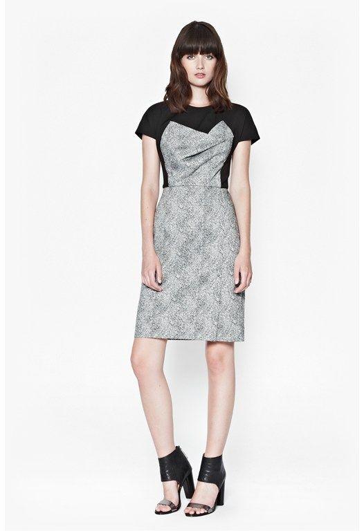 Powdered Pepper Structured Dress