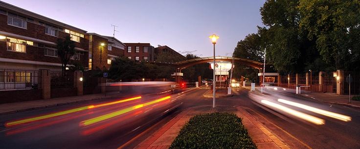 Hoffmanstraat-ingang na die NWU-Potchefstroomkampus